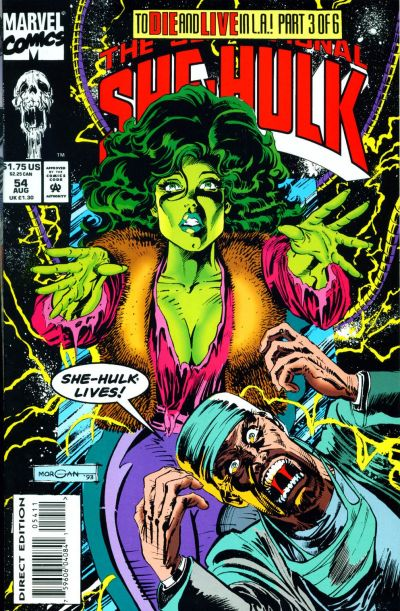Cover for The Sensational She-Hulk (Marvel, 1989 series) #54