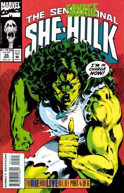Cover for The Sensational She-Hulk (Marvel, 1989 series) #55