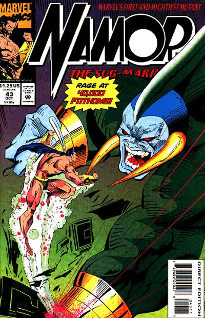 Cover for Namor, the Sub-Mariner (Marvel, 1990 series) #43