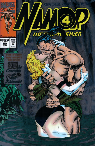Cover for Namor, the Sub-Mariner (Marvel, 1990 series) #50 [Direct Edition]