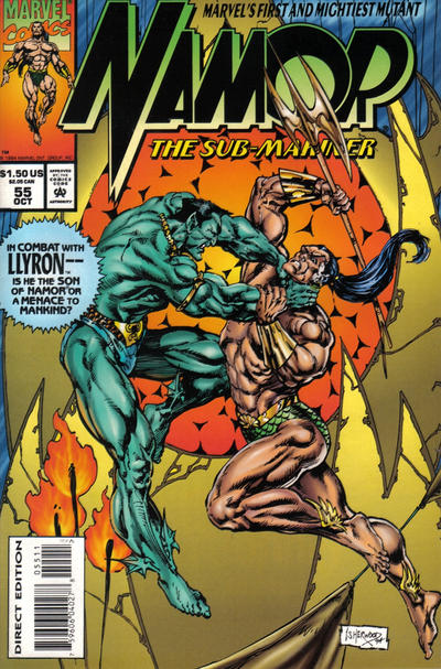 Cover for Namor, the Sub-Mariner (Marvel, 1990 series) #55