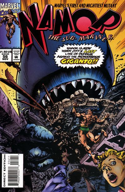 Cover for Namor, the Sub-Mariner (Marvel, 1990 series) #56