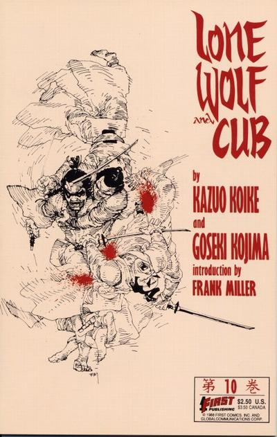 Cover for Lone Wolf and Cub (First, 1987 series) #10