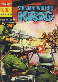 Cover Thumbnail for Bajonett serien (Illustrerte Klassikere / Williams Forlag, 1967 series) #23