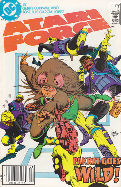 Cover for Atari Force (DC, 1984 series) #3 [Direct-Sales]