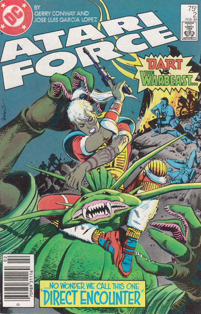 Cover for Atari Force (DC, 1984 series) #2 [Direct Edition]