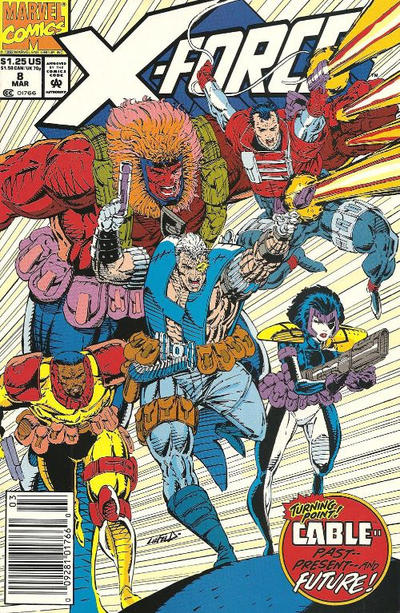 Cover for X-Force (Marvel, 1991 series) #8 [Newsstand]