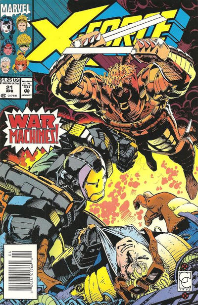 Cover for X-Force (Marvel, 1991 series) #21 [Newsstand]