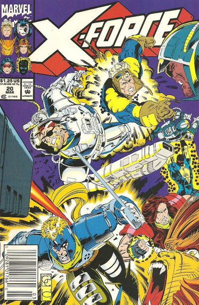 Cover for X-Force (Marvel, 1991 series) #20 [Direct]