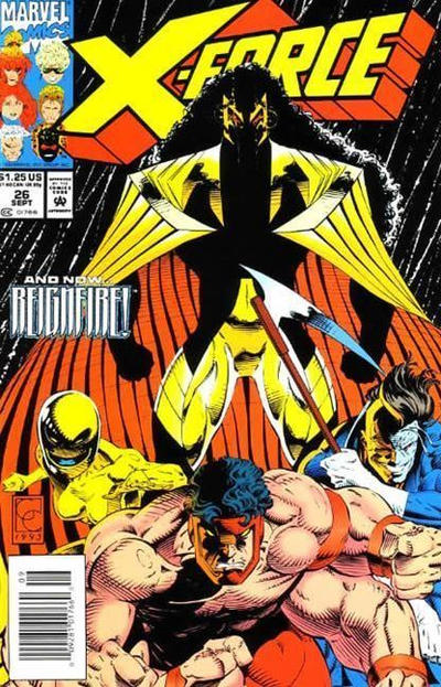 Cover for X-Force (Marvel, 1991 series) #26 [Newsstand]