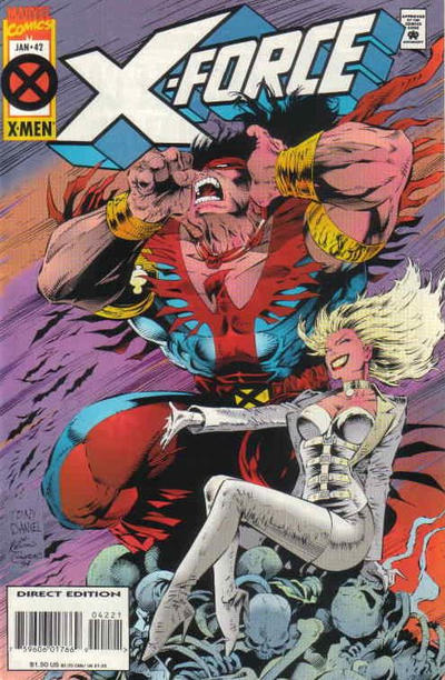 Cover for X-Force (Marvel, 1991 series) #42 [Deluxe Direct Edition]