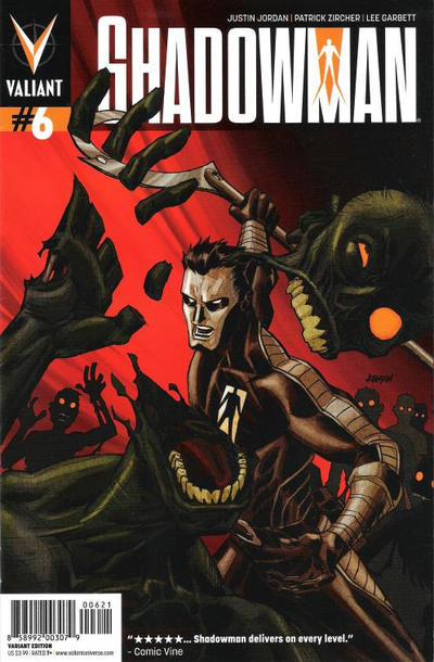 Cover for Shadowman (Valiant Entertainment, 2012 series) #6 [Cover B - Dave Johnson]