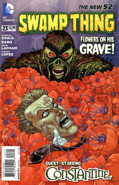 Cover for Swamp Thing (DC, 2011 series) #23