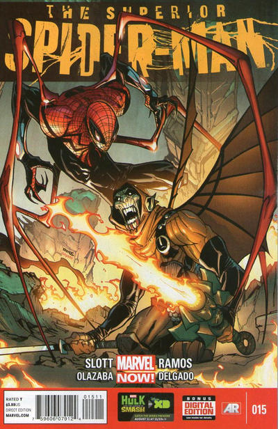 Cover for Superior Spider-Man (Marvel, 2013 series) #15