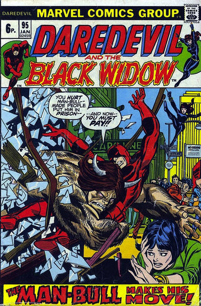 Cover for Daredevil (Marvel, 1964 series) #95 [British]