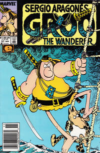Cover Thumbnail for Sergio Aragonés Groo the Wanderer (Marvel, 1985 series) #57 [Newsstand Edition]