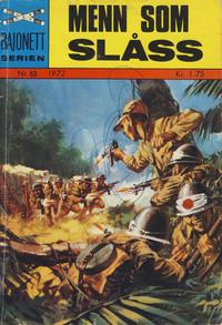 Cover Thumbnail for Bajonett serien (Illustrerte Klassikere / Williams Forlag, 1967 series) #63