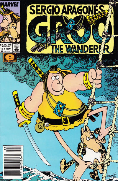 Cover for Sergio Aragonés Groo the Wanderer (Marvel, 1985 series) #57 [Newsstand Edition]