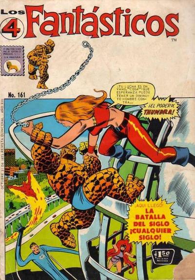 Cover for Los 4 Fantásticos (Editora de Periódicos La Prensa S.C.L., 1962 series) #161
