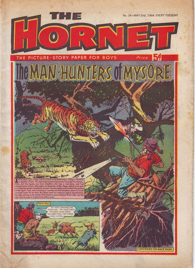 Cover for The Hornet (D.C. Thomson, 1963 series) #34