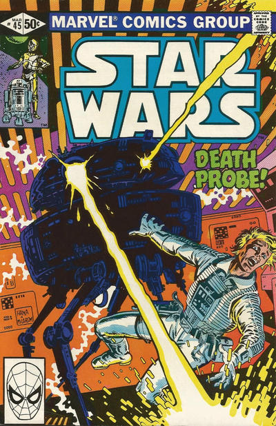 Cover for Star Wars (Marvel, 1977 series) #45 [Direct Edition]