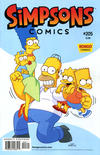 Cover for Simpsons Comics (Bongo, 1993 series) #205