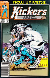 Cover Thumbnail for Kickers, Inc. (Marvel, 1986 series) #7 [Newsstand]