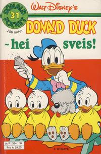 Cover Thumbnail for Donald Pocket (Hjemmet / Egmont, 1968 series) #31 - Donald Duck - hei sveis! [3. opplag]