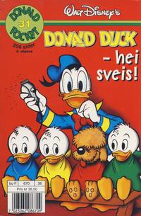 Cover Thumbnail for Donald Pocket (Hjemmet / Egmont, 1968 series) #31 - Donald Duck - hei sveis! [4. opplag]