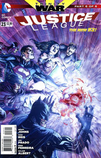 Cover for Justice League (DC, 2011 series) #23 [Mikel Janin / Vicente Cifuentes Cover]