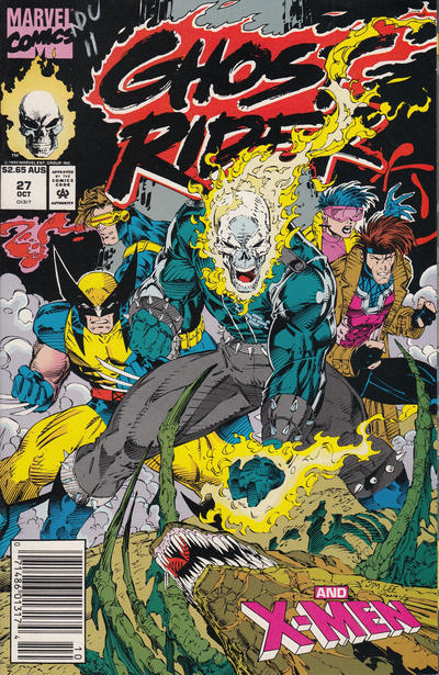 Cover for Ghost Rider (Marvel, 1990 series) #27 [Direct Edition]