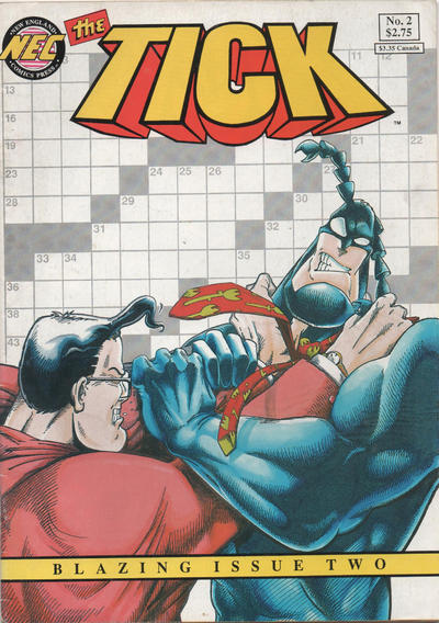 Cover for The Tick (New England Comics, 1988 series) #2 [Die-cut First Printing]