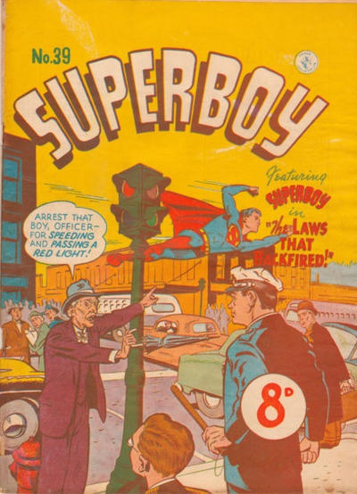 Cover for Superboy (K. G. Murray, 1949 series) #39 [Price difference]