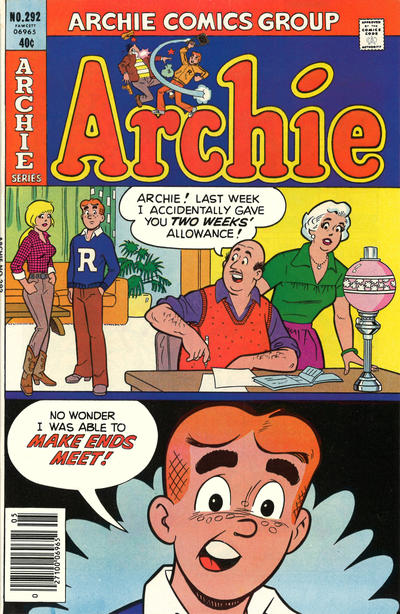 Cover for Archie (Archie, 1959 series) #292
