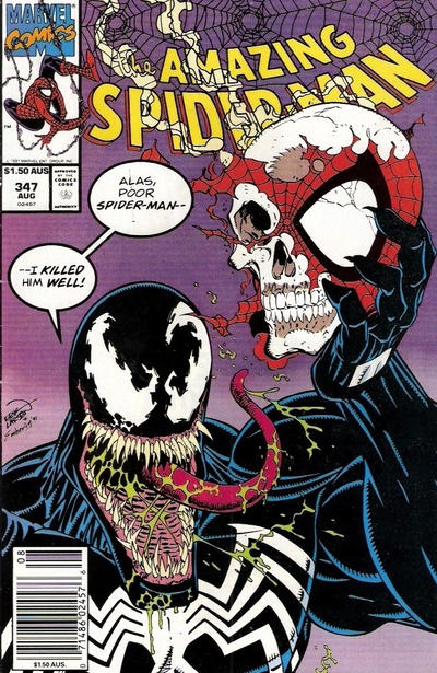 Cover for The Amazing Spider-Man (Marvel, 1963 series) #347 [Australian Price Variant]