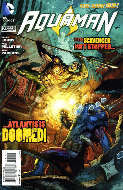 Cover for Aquaman (DC, 2011 series) #23