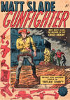 Cover for Matt Slade Gunfighter (Horwitz, 1957 ? series) #1