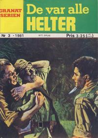 Cover Thumbnail for Granat Serien (Atlantic Forlag, 1976 series) #3/1981