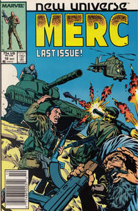 Cover Thumbnail for Mark Hazzard: Merc (Marvel, 1986 series) #12 [Newsstand]