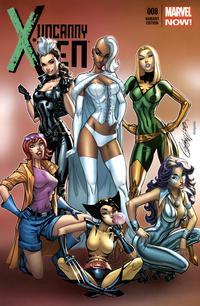 Cover Thumbnail for Uncanny X-Men (Marvel, 2013 series) #8 [Variant Cover by J. Scott Campbell]