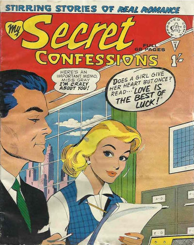 Cover for My Secret Confessions (Alan Class, 1958 ? series) #1