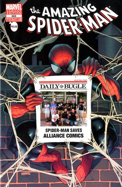 Cover for The Amazing Spider-Man (Marvel, 1999 series) #666 [Sources Comics and Games store variant]