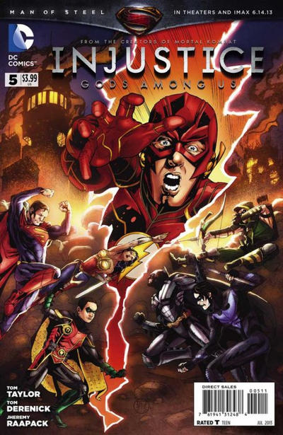 Cover for Injustice: Gods Among Us (DC, 2013 series) #5 [Direct Sales]