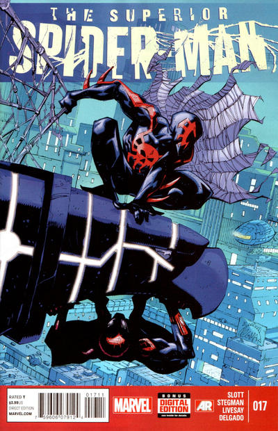 Cover for Superior Spider-Man (Marvel, 2013 series) #17 [JG Jones Spider-Man 2099 Variant Cover]