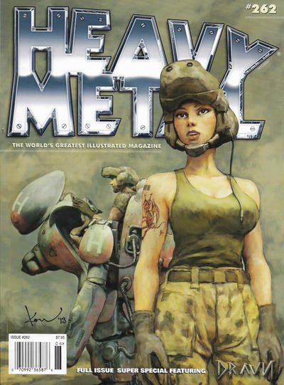 Cover for Heavy Metal Magazine (Heavy Metal, 1977 series) #262 [Newsstand Cover]