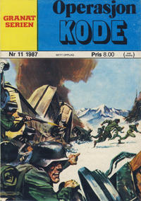 Cover Thumbnail for Granat Serien (Atlantic Forlag, 1976 series) #11/1987