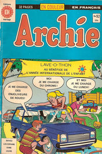 Cover Thumbnail for Archie (Editions Héritage, 1971 series) #92