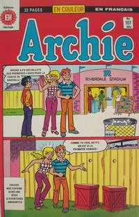 Cover Thumbnail for Archie (Editions Héritage, 1971 series) #107