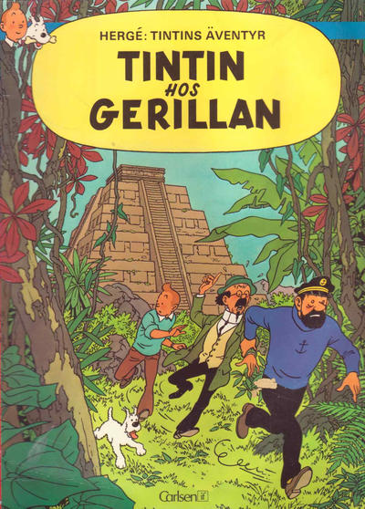 Cover for Tintins äventyr (Carlsen/if [SE], 1972 series) #23 - Tintin hos gerillan