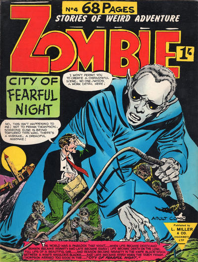 Cover for Zombie (L. Miller & Son, 1961 series) #4